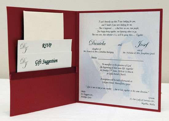 Pocket Wedding Invitations 3