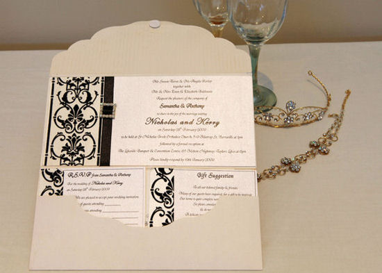 Pocket Wedding Invitations 4